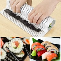 Wholesale DIY Easy Sushi Rolling Roller Pad Plastic Mat Makers Magic Cooking Home Tool UL