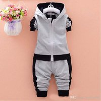 Wholesale baby boys clothing sets children autumn winter wear cotton casual tracksuits kids clothes sports suit hot