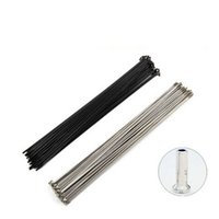 Wholesale 36pcs Stainless Black White J bend Round Bicycle Spokes with Strong Brass Nipples Bike Accessories