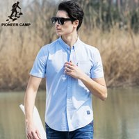 big collar shirts for men - Pioneer Camp Cotton Oxford Shirt Men Slim Fit Shirt Easy Matching Brand Clothing Soft Camisas Masculina For Big Tall