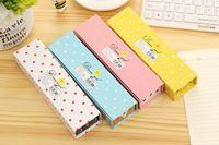 Wholesale 50pc creative paper cute cartoon pet pencil cases pencil cases stationery store student supplies