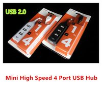 Wholesale Mini High Speed USB Hub Port Split Extention Without Retail Package For Laptop Notebook PC Universal dhl free