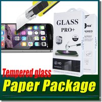 Wholesale Tempered Glass Screen Protector Film For iPhone SE S S Plus LG G4 G5 HTC M9 Plus SONY Z5 Premium Plus White Retail Package MOQ