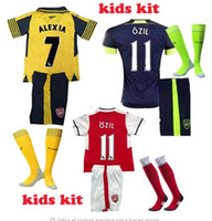 arsenal boy - kids Top Quality Arsenal ball jerseys Away home RD Jersey OZIL WALCOTT RAMSEY ALEXIS RAMSEY DEBUCHY WILSHERE GIROUD jerseys shi
