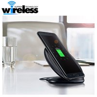 Wholesale 2016 New Vertical Fast Charge wireless charger charging stand For Samsung Galaxy S6 Edge plus S7 Edge plus Note with logo package