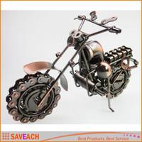 antique iron toys - Large Size HandMade iron art Bronze Color Retro Style Metal Harley Motorcycle Motorbike Autobike Model Toys For Kids Men Birthday Gift