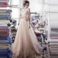 Wholesale Sexy Lace Wedding Dresses Vintage Cute Romantic A Line Tulle Backless Wedding Gowns Robe De Mariage Casamento Bride Dresses