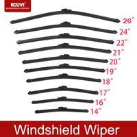 Wholesale KOUVI Car wiper blade Car Vehicle Insert Rubber Wiper Blade Black Car windshield wipers inch