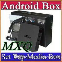 Wholesale 16X MXQ android TV BOX Amlogic S805 Quad Core Android mxq tv box sex xxl android live tv box amlogic s805 quad core mxq ott tv box A TH