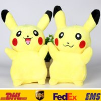 Wholesale New cm inch Poke Pikachu Plush Dolls Children Kids Cartoon Movies Game Costume Cosplay Stuffed Animal Toys XMAS Gifts HH T07