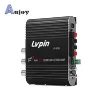 Wholesale Lvpin LP Car Motorbike Computer Power Amplifier Hi Fi Low Distortion Amplifier Support CD MP3 MP4 Stereo Amplifier