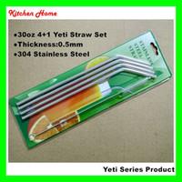 bar bending tool - 10 Inch oz Yeti Stainless Steel Bending Straw Brush Set Yeti Tumbler Reusable Metal Straws Bar Drinking Straws Tools