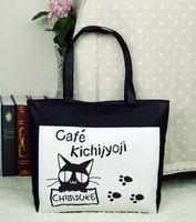 Wholesale 100 Canvas Shopping Bag Modern Stylish cartoon Single Shoulder Bag Simple Handbag Fashion Canvas Bag Reusable Shopping Bag