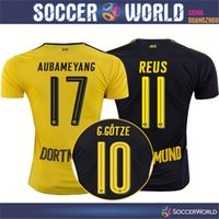 Wholesale Thailand quality Borussia Dortmund soccer jerseys Dortmund Home and Away G GOTZE REUS PULISIC KAGAWA football shirts