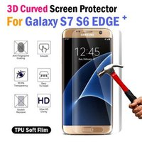 Wholesale S7 Edge Screen Protector Film TPU Clear Full cover Film for Samsung Galaxy s7 Edge s6 Edge Plus Full Body Cover Curved Screen Protector