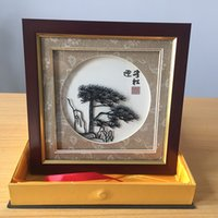 Wholesale Iron painting handicrafts with Chinese culture connotation Guest Greeting Pine