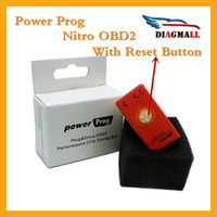 Wholesale Newest Power Prog Nitro OBD2 Chip Tuning Box More Power Torque NitroOBD2 Chip Tuning for Diesel OBDII Nitro Plug Drive
