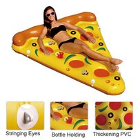 Wholesale 180cm Inflatable Giant Pizza Slice Pool Float High Quality For Adult Outdoor Sports Water Swimming Inflatable Lounger DHL Shipping