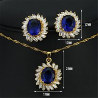 authentic african jewelry - authentic foreign trade export women s jewelry sapphire crystal suite JS100303