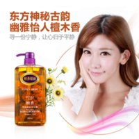 Wholesale Sandalwood Essential Oil Shower Gel Reduce Fine Lines Exfoliating Moisturizing Nourishing Beauty Body Lasting Fragrant Gels