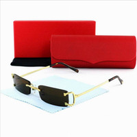 Wholesale Luxury Brand Vogue Rimless Rectangle Clear Black Plain Glasses Men Fashion Buffalo Sunglasses Gafas Occhiali Lunettes De Soleil Homme