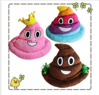 Wholesale Emoji Smiley Caps cute cartoon Poop Hats Decorative Accessories Holiday Gift Via FedEx Shipping