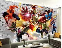 comic books - 3d wallpaper custom photo non woven mural wall sticker Comic book hero painting picture d wall room murals wallpaper