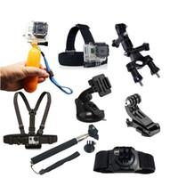 Wholesale Gopro Action Cam Accessories kit in Hero Hero Hero2 Sj5000 Chest Belt Head Hand Strap Floating Monopod Gopro set MOQ