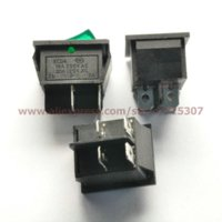 Wholesale Pin A V Green Button with Light Rocker Switch KCD4 On Off Rocker Power Switches