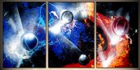 art space hands - Hand painted Hi Q modern wall art home decorative abstract oil painting on canvas global space pc set Unframed