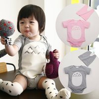 Wholesale 2016 new baby rompers newborn babies clothing with caps hat set toddler one piece romper infant kids jumpers suit rompers