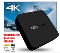 Wholesale MXQ K MXQ K RK3229 Quad Core Android TV Box G G WiFi HDMI2 K2K H Bit KODI Smart TV Box IPTV Google Play Store VS MXIII