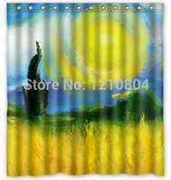 autumn shower curtains - The Autumn Joy quot Painting Hot Selling Custom Polyester Shower Curtain Waterproof Print Size x180cm With Hooks