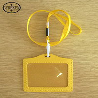 bag company names - PU1pcs Card Bag name badge card case Business Card Holder plastic passport cover with colorful nack lanyard company office supply