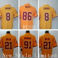 authentic redskins jerseys - NWT Limited Redskins Kirk Cousins Reed Sean Taylor Ryan Kerrigan Stitched Embroidery America Football Authentic Jersey