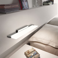 bedroom dresser mirror - New acrylic transparent quadrate bathroom toilet dresser bedroom mirror lamp wall lamp contracted and contemporary led lights