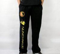 Wholesale pure cotton nunchakus pants martial arts kung fu training trousers