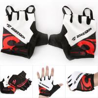 Wholesale New Cycling Bicycle Bike Gel Half Finger Gloves Biking Riding Fingerless Gloves