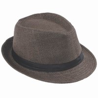 Wholesale Unisex kid Adult Straw Jazz Hat Sun Fedora Hats For Beach Party Photo Prop