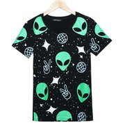 alien t shirts - Fashion Design Summer Style Aliens T Shirts Women Short Sleeve Tops Tee Comfortable Female Students T shirts Teenagers Cropped