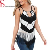 Wholesale S XXL Plus Size Fashion Womens Summer Tassel Halter Sexy Tanks Tops Camis Beach Casual Clothes HDS256