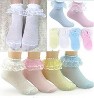 Wholesale Hot Sale Pairs Retro Lace Ruffle Frilly Ankle Short Socks Ladies Princess Girl Socks KK