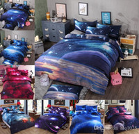 Wholesale 3d Galaxy bedding sets Universe Outer Space Themed Bedspread Bed Linen Bed Sheets Duvet Cover Set