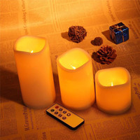 Wholesale Romantic candle wireless remote control candle operated led flameless candles bougie Light set remote Party Club Birthday