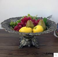 antique fruit bowl - cm cm European antique bronze reliefs large fruit bowl dried fruit tray storage tray home decorative fruit bowl SG031