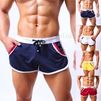 Wholesale 2016 Hot Sale Stylish Men Sexy Sport Bodybuilding Shorts Fitness Running GYM Summer Casual Short Pants