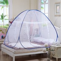 Wholesale Heightening Mongolian Yurt Net dome Automatically Open Mosquito Nets Students Free Installation Summer Bi parting Nets Olympic Games