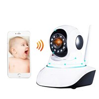 Wholesale WEONEDREAM Wireless Baby Monitor Ip Camera Wifi Baby Monitor with Motion Detection Intercom HD p Live Baby Electronic Monitor