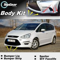 Wholesale Bumper Lip Lips For Ford S Max SMax S Max Front Skirt Deflector Spoiler For Car Tuning The Stig Recommend Body Kit Strip
