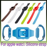 Wholesale New Colorful Silicone WatchBand Case For Apple Watch Strap For iWatch mm mm pieces